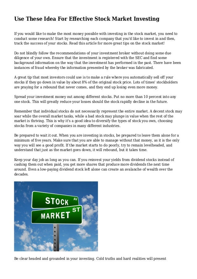 Just how to Sell & Obtain Stock Market Shares