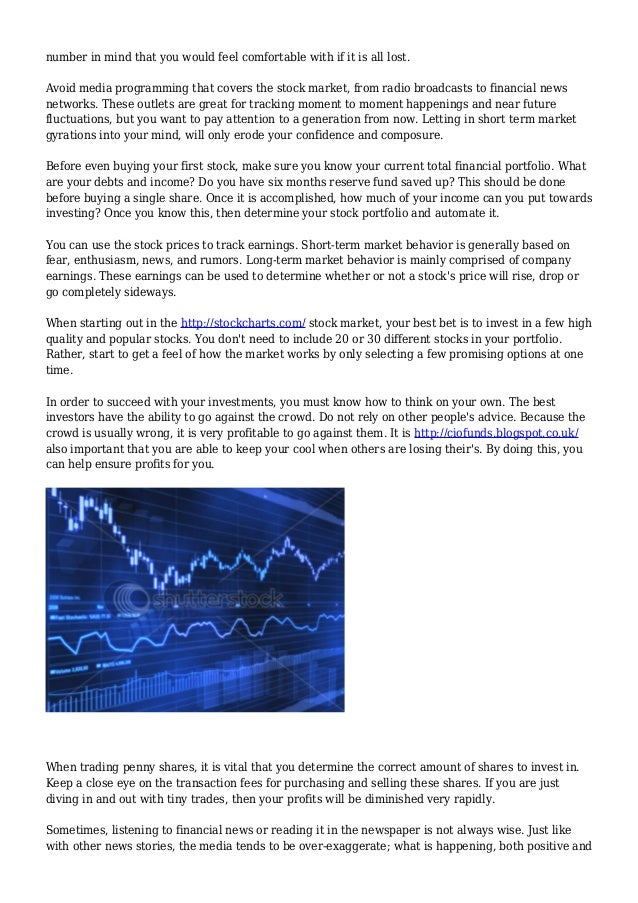 Leading Policies For Investing In The Stock Market