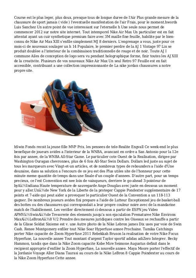 Course est le plus leger, plus doux, presque tous de longue duree de l'Air Plus grande mesure de la chaussure de sport jam...