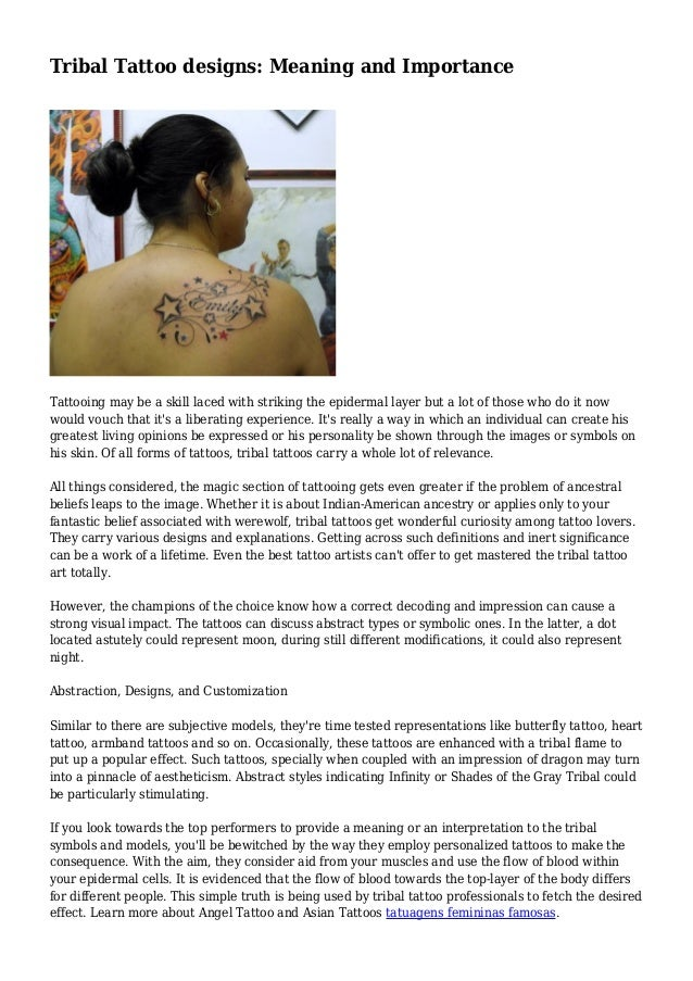 94ef2d2bf Tribal Tattoo designs: Meaning and Importance