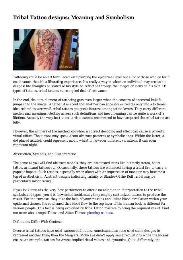 Tribal Tattoo Designs Meaning And Symbolism