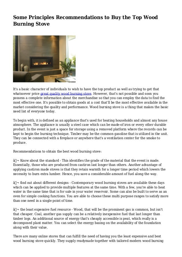 Some Principles Recommendations to Buy the Top Wood Burning Stove It's a basic character of individuals to wish to have th...
