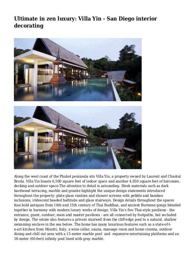 Ultimate in zen luxury: Villa Yin - San go interior ... on luxury contemporary home design, luxury modern home design, luxury zen bathroom,