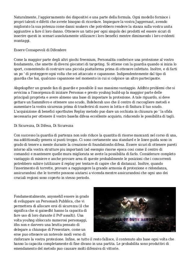 Call of Duty Eroi Manuale - Suggerimenti Per Vincere Senza perdere Soldi Veri  Slide 2