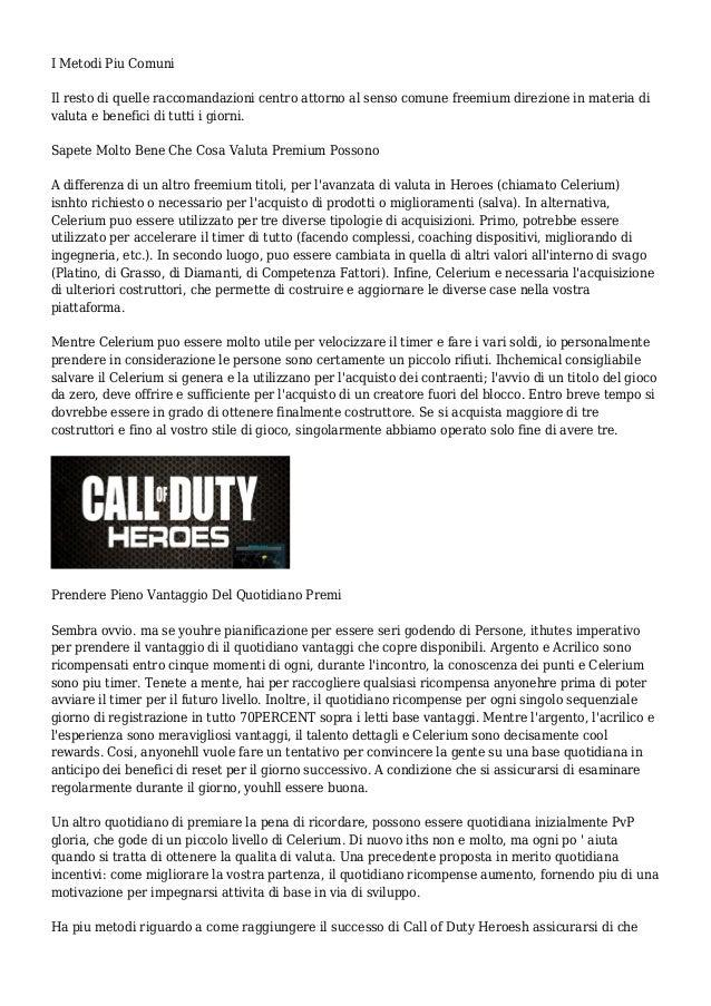 Call of Duty Eroi Manuale - Suggerimenti Per Vincere Senza perdere Soldi Veri  Slide 3
