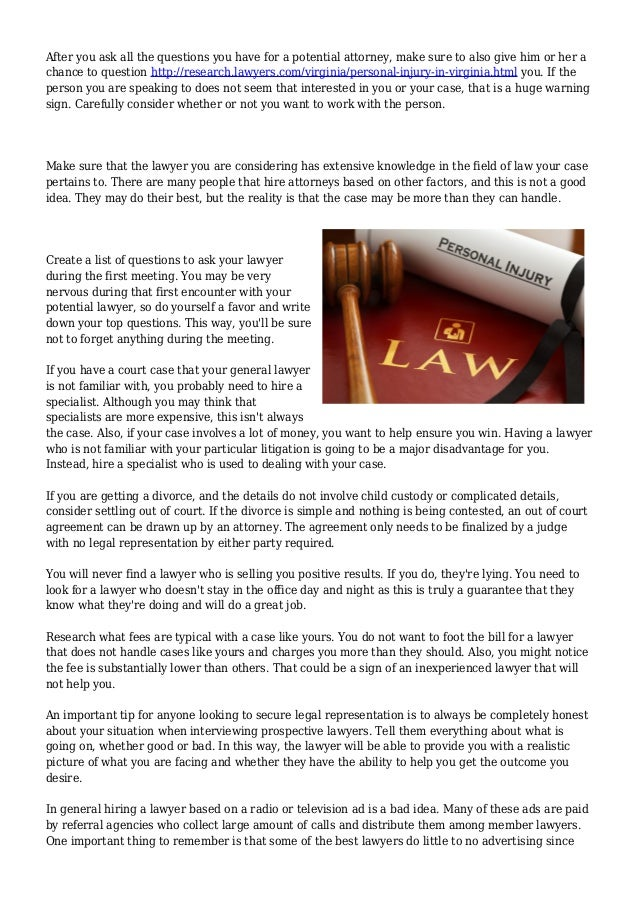 Every Little Thing You Should Find Out About Employing A Lawyer