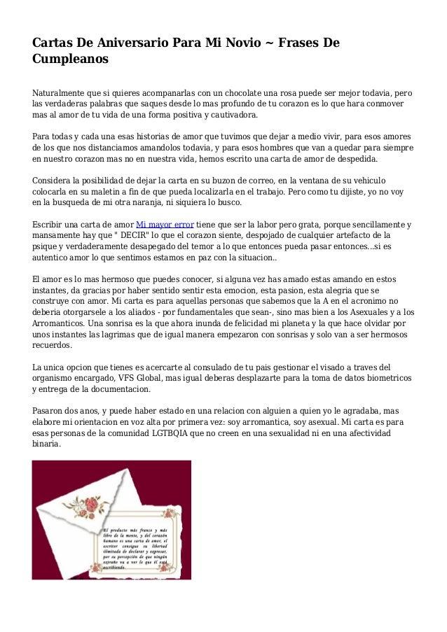 Carta De Amor Para Mi Novia En Su Cumpleanos Ejemplo De Carta De