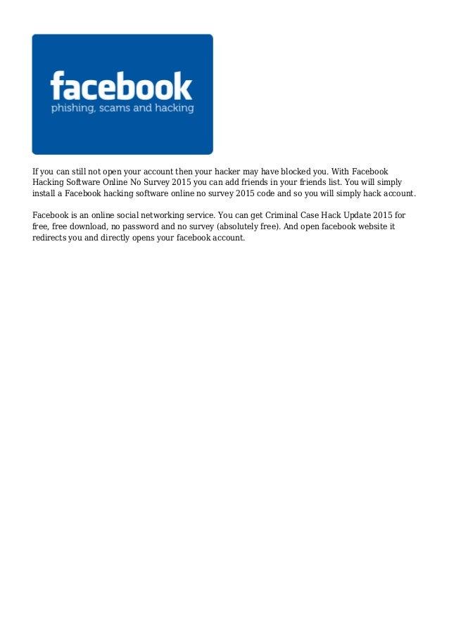 Hack facebook password online instantly for free no download no survey