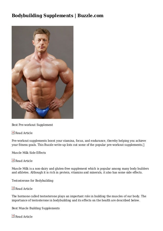 Bodybuilding Supplements Buzzle Com