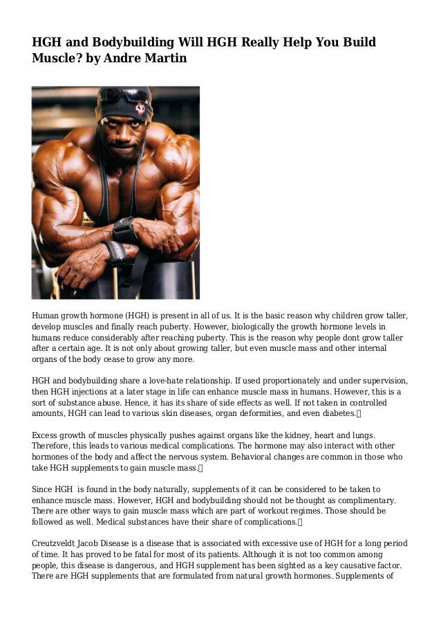 HGH and Bodybuilding Will HGH Really Help You Build Muscle