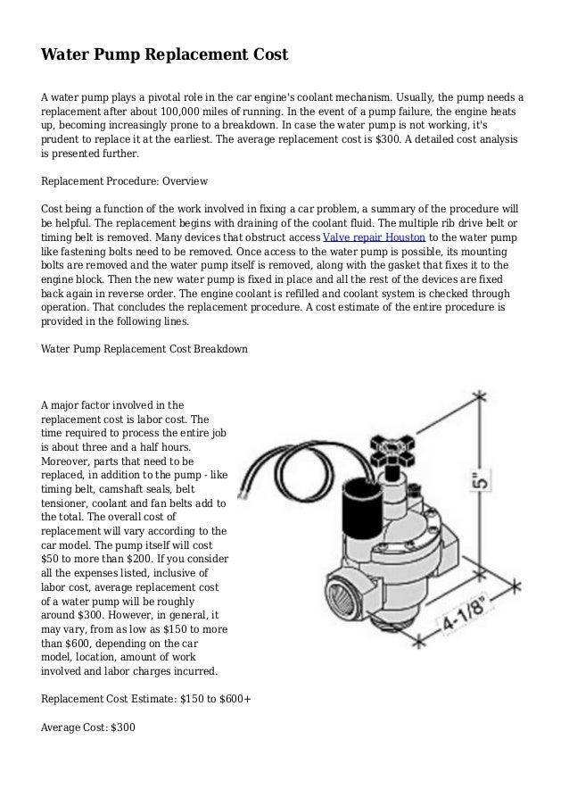 Water Pump Car Cost >> Water Pump Water Pump Replacement Cost