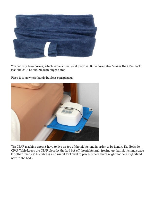 Cpap Bedside Table: Storing The CPAP Machine (and Other Ugly But Frequently