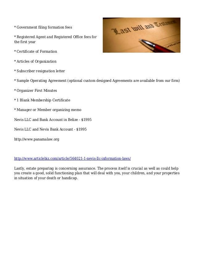 Legal :: Nevis LLC Information & Laws