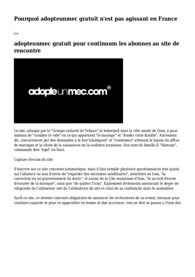 Pourquoi adopteunmec gratuit n'est pas agissant en France  adopteunmec gratuit pour continuum les abonnes au site de re...