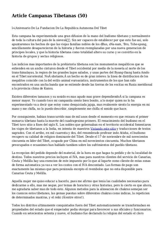 Article Campanas Tibetanas (50) Anivesario De La Fundacion De La Republica Autonoma Del Tibet Esta campana ha experimen...