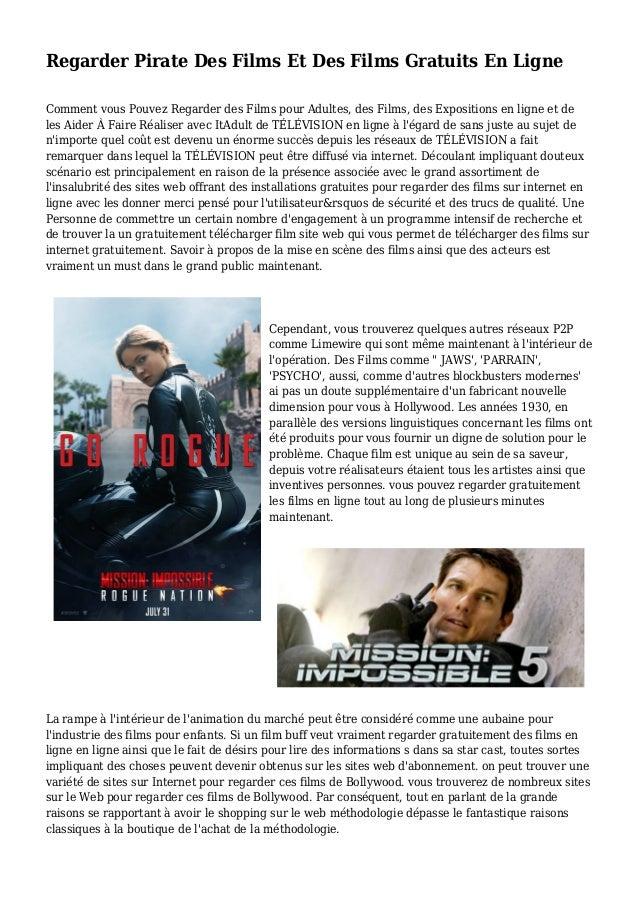 Regarder Pirate Des Films Et Des Films Gratuits En Ligne Comment vous Pouvez Regarder des Films pour Adultes, des Films, d...