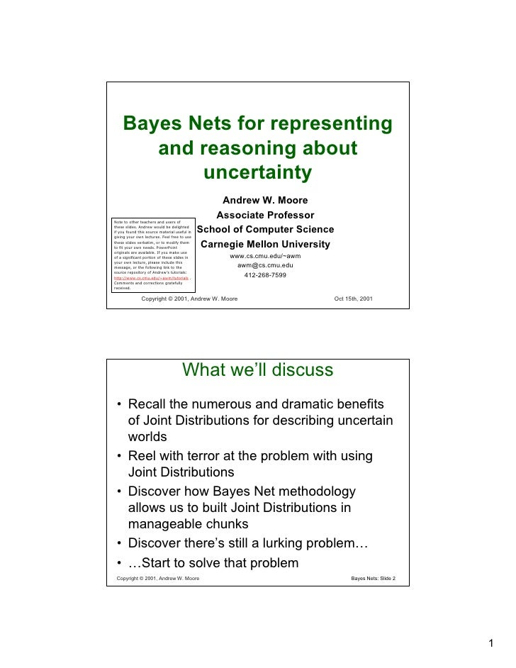 Bayes Nets for representing        and reasoning about            uncertainty                                             ...