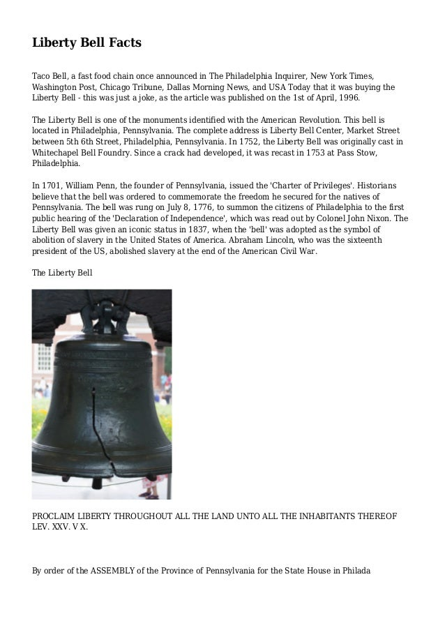 Liberty Bell Facts