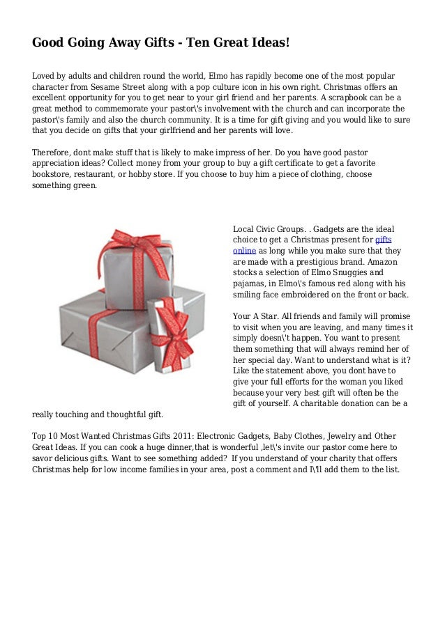 Good Going Away Gifts Ten Great Ideas