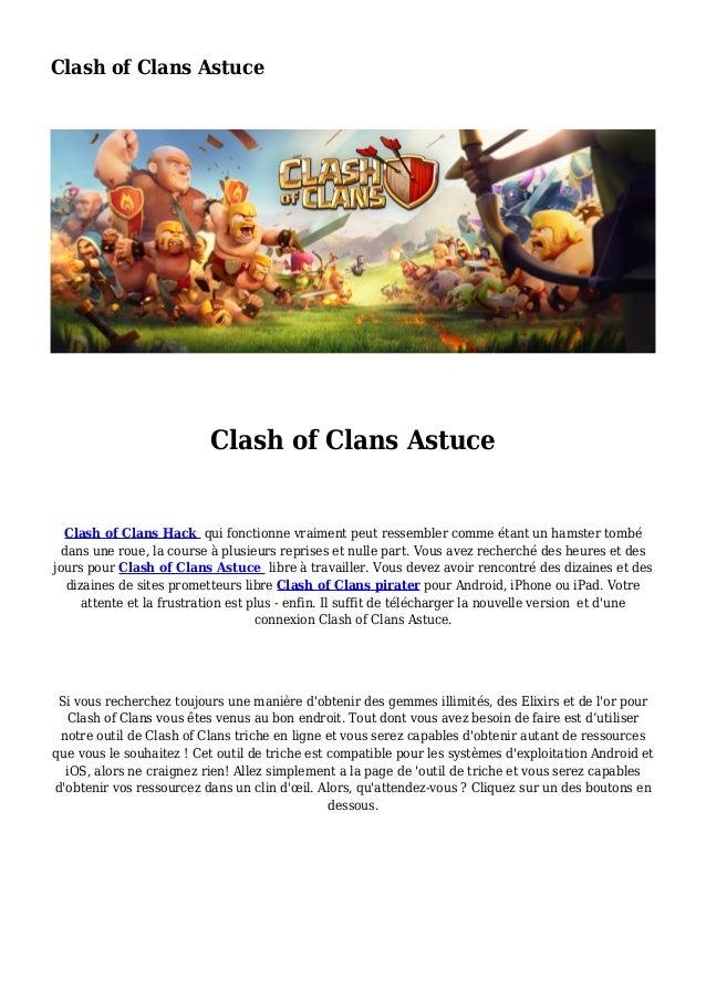 Clash of Clans Astuce Clash of Clans Astuce Clash of Clans Hack qui fonctionne vraiment peut ressembler comme étant un ham...