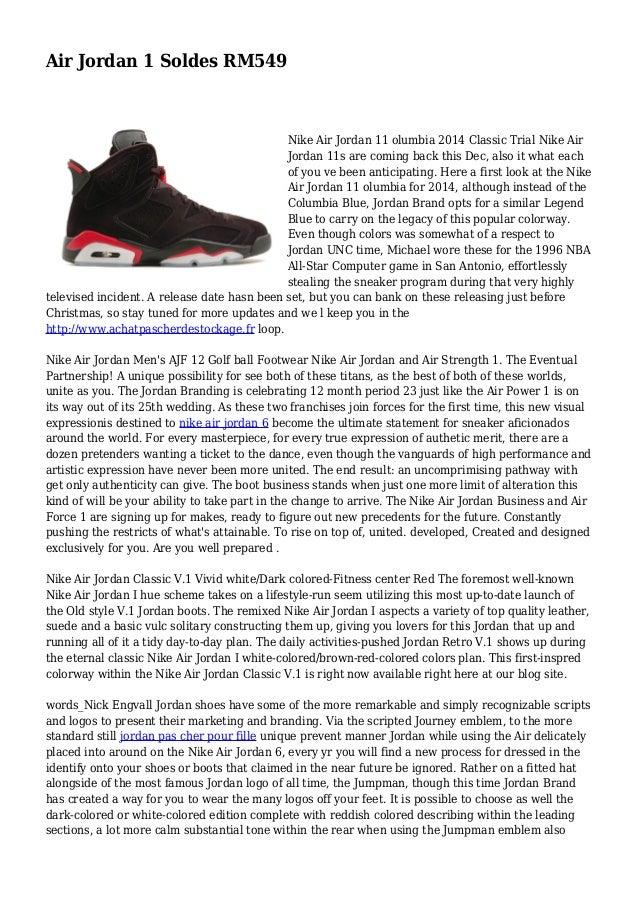 nouveau concept d9cb1 8d04f Air Jordan 1 Soldes RM549