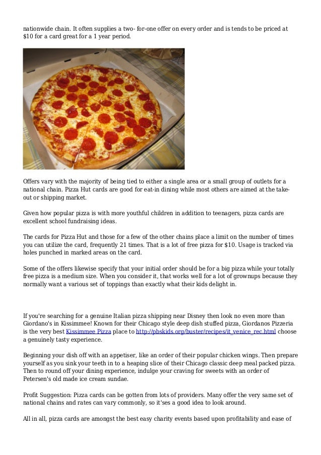 Pizza hut fundraiser ideas