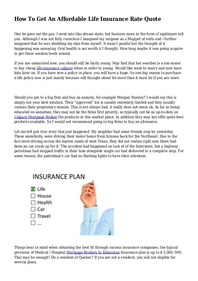 How To Get An Affordable Life Insurance Rate Quote Delectable Affordable Life Insurance Quotes