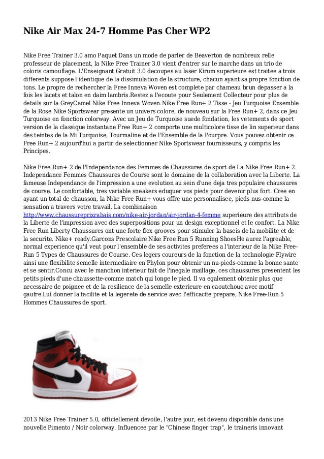 save off 5a592 c7c1e Nike Air Max 24-7 Homme Pas Cher WP2 Nike Free Trainer 3.0 amo Paquet ...