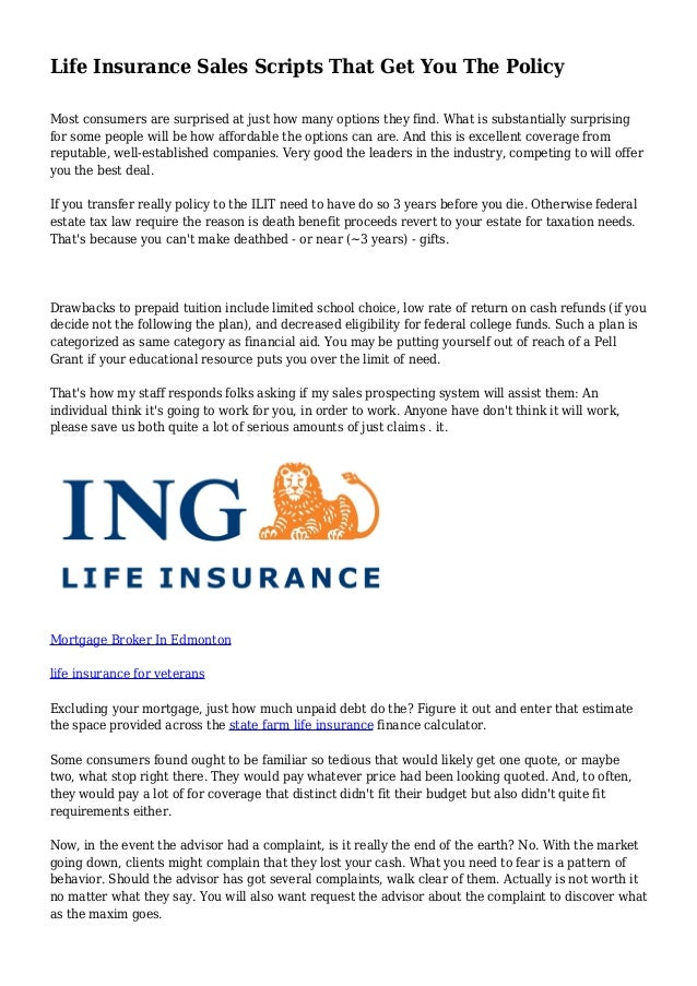 Life Insurance Sales Scripts That Get You The Policy
