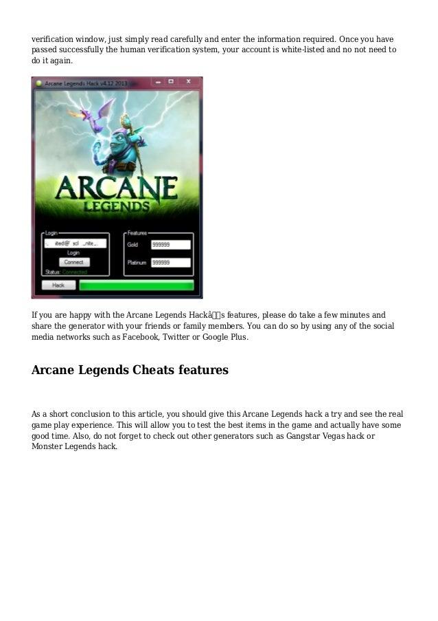 arcane legends hack