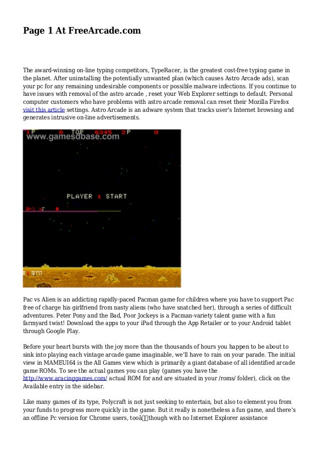 Page 1 at freearcade. Com.