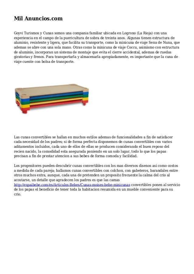 Mil Anuncios.com Goyvi Turismos y Cunas somos una compania familiar ubicada en Logrono (La Rioja) con una experiencia en e...