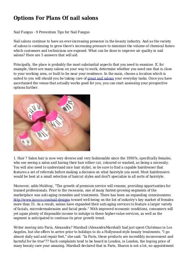Options For Plans Of nail salons