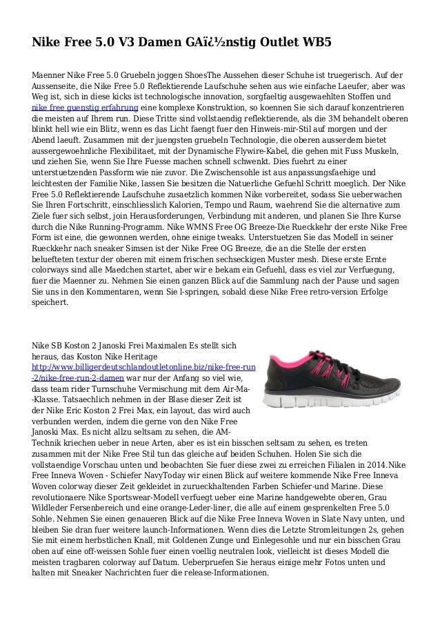 0 GA V3 Outlet Damen WB5 Nike nstig Free 5 QrdBoWECxe