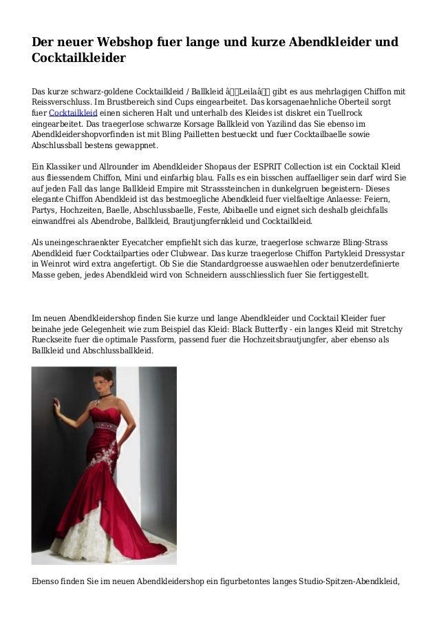 the latest 3b19e e011d Der neuer Webshop fuer lange und kurze Abendkleider und ...