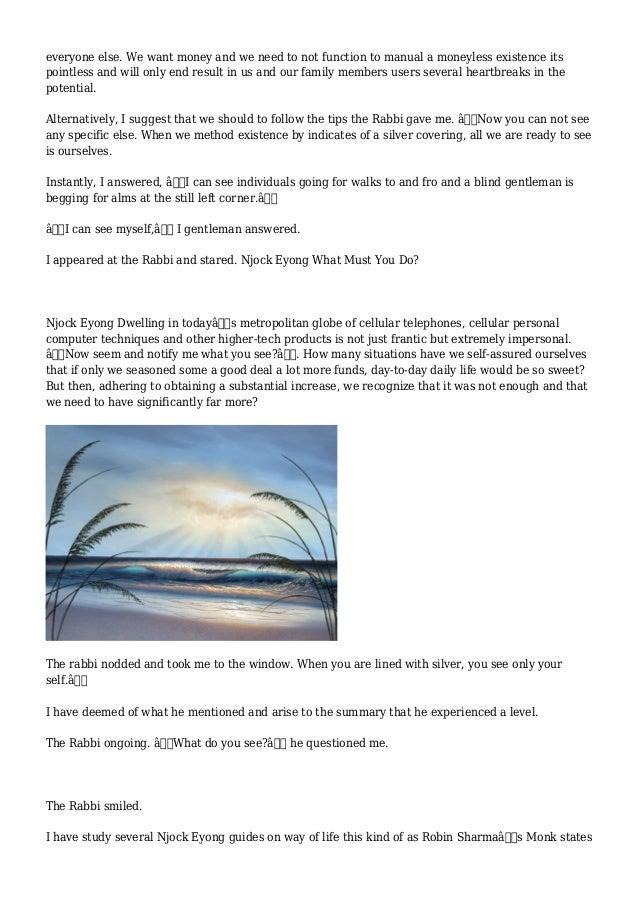 Njock Eyong - Life Guidance Hunting By way of A Window Slide 2
