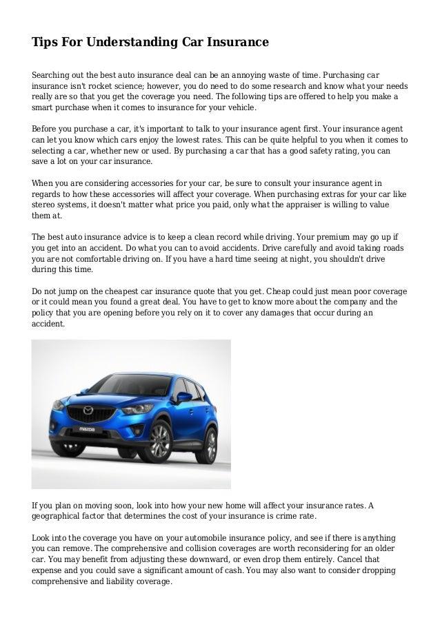 Tips For Understanding Car Insurance