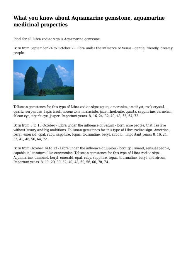 What you know about Aquamarine gemstone, aquamarine medicinal properties Ideal for all Libra zodiac sign is Aquamarine gem...