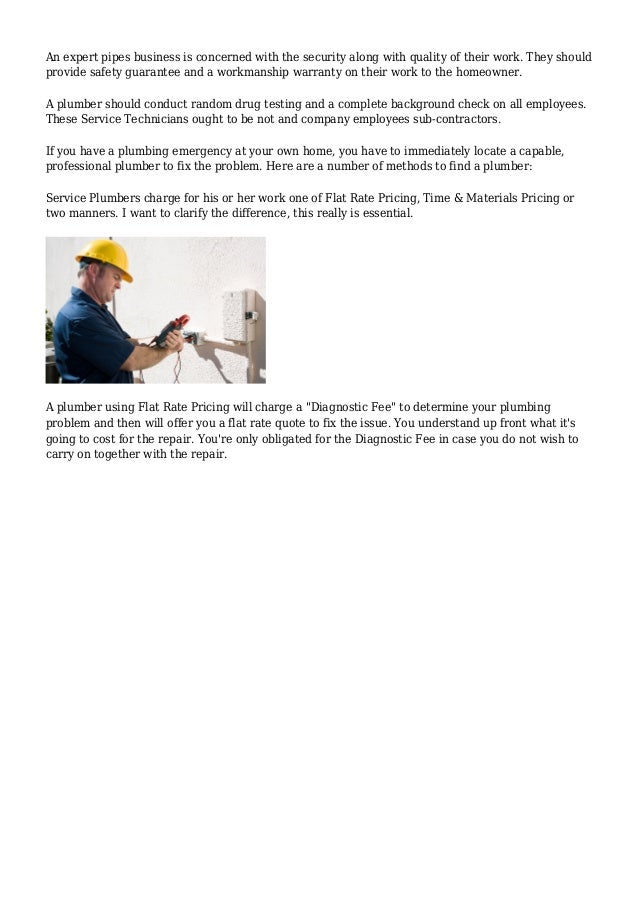 A Simple Homeowner Checklist for Finding a Competent Professional Plumber Slide 3