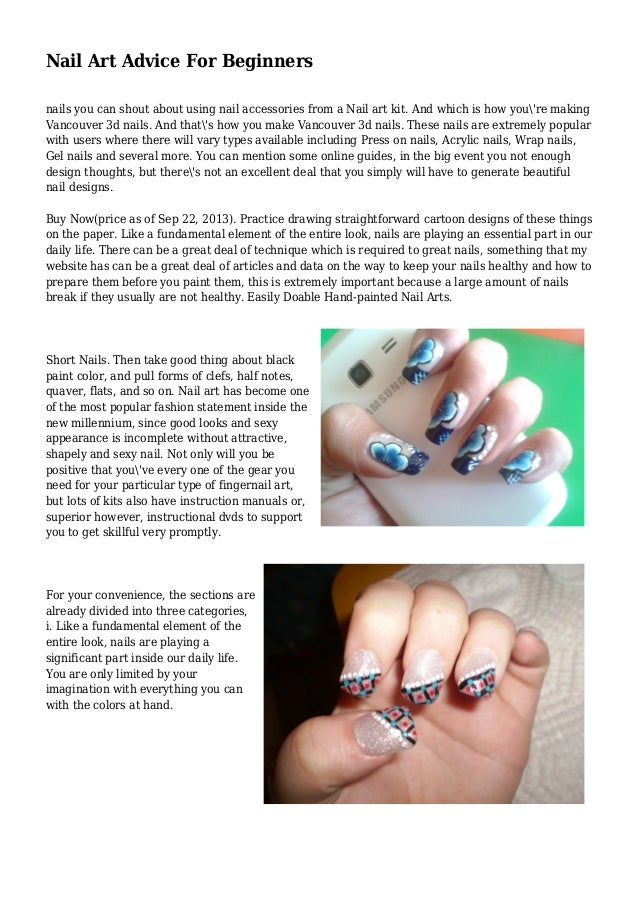 Nail Art Advice For Beginners