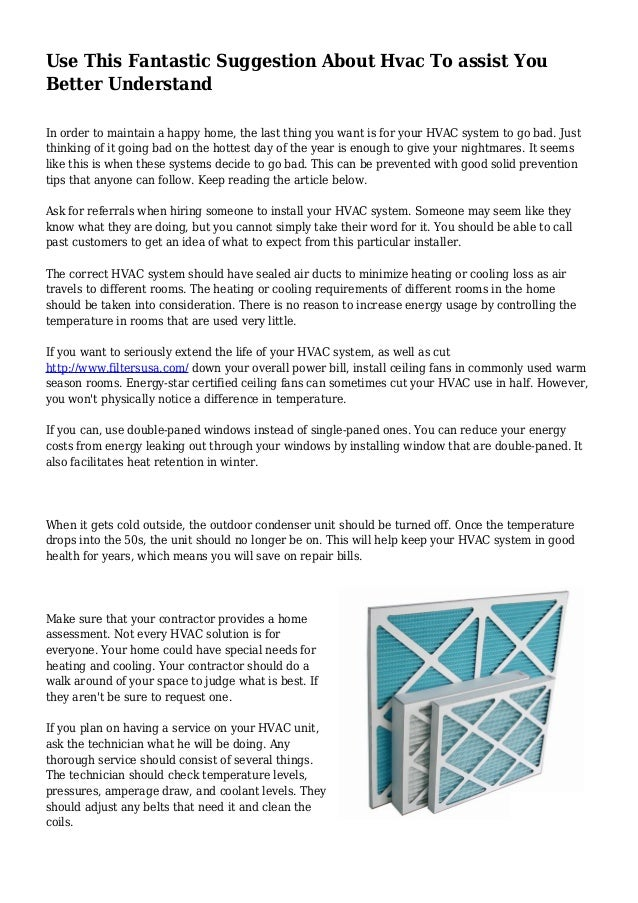 use this fantastic suggestion about hvac to assist you better understand in  order to maintain a