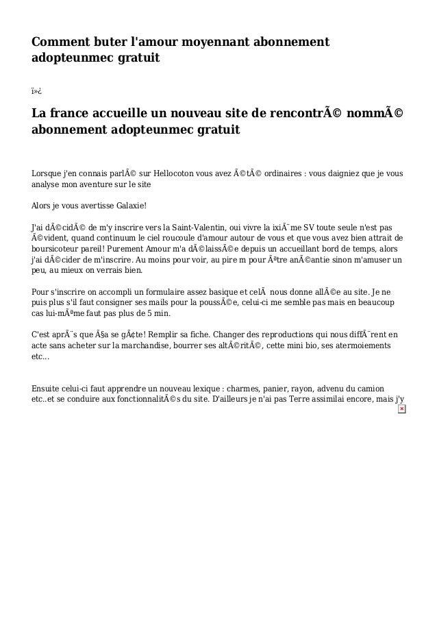 Comment buter l'amour moyennant abonnement adopteunmec gratuit  La france accueille un nouveau site de rencontré nommÃ...