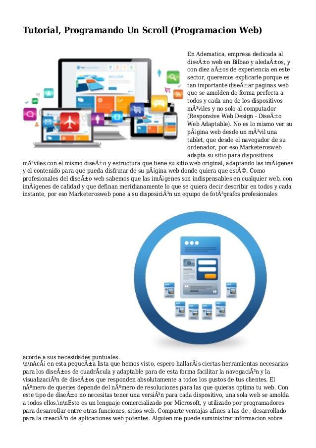 Tutorial, Programando Un Scroll (Programacion Web) En Adematica, empresa dedicada al diseño web en Bilbao y aledaños, y ...