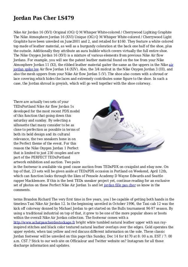 fa3266907551 Jordan Pas Cher LS479 Nike Air Jordan 16 (XVI) Original (OG) Q M ...