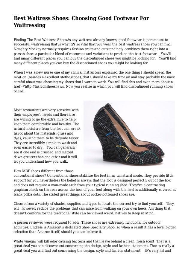 Best Waitress Shoes: Choosing Good