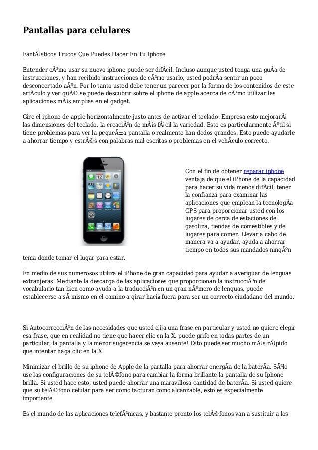 Pantallas para celulares Fantásticos Trucos Que Puedes Hacer En Tu Iphone Entender cómo usar su nuevo iphone puede ser d...