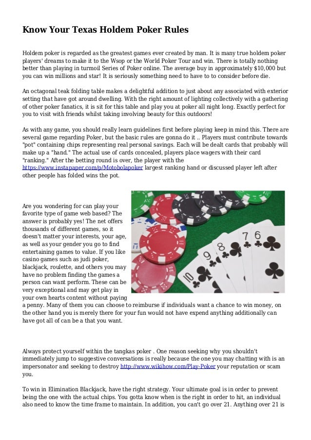 Texas Holdem Rules