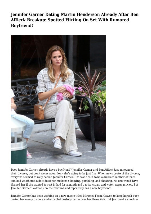 Jennifer Garner dating Ben