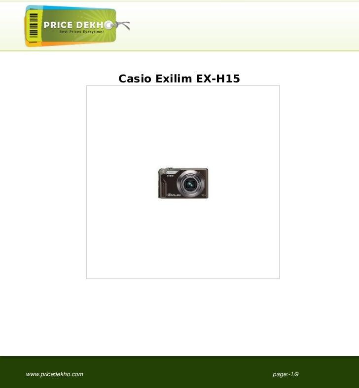 Casio Exilim EX-H15www.pricedekho.com                         page:-1/9