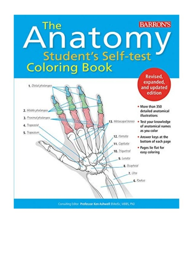 Anatomy Student S Self Test Coloring Book Pdf Ken Ashwell Ph D